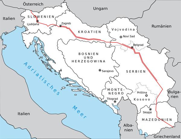 Bild zum Thema Balkanroute nach wie vor stark frequentiert  Der österreichische Verteidigungsminister Doskozil (SPÖ) kündigte verstärkte Grenzschutzmaßnahmen an, da die sogenannte Balkan-Route nach wie vor nicht dicht sei.  Abgesehen von dem Katastrophenjahr 2015 steige die Zahl der Migranten im Vergleich zu den Vorjahren weiter an, obwohl die Balkan-Route inzwischen 'geschlossen' sei. Dies betreffe jedoch nur das bloße 'Durchwinken'.  Doskozil arbeitet an einer 'Balkan-Grenzschutzoffensive', die in Zusammenarbeit mit 15 weiteren Staaten eine komplette Überwachung der Balkanroute sicherstellen soll. :V  http://info-direkt.eu/2017/03/10/doskozil-balkanroute-nicht-dicht/  #balkanroute  #grenzschutz  #BalkanGrenzschutzOffensive #österreich
