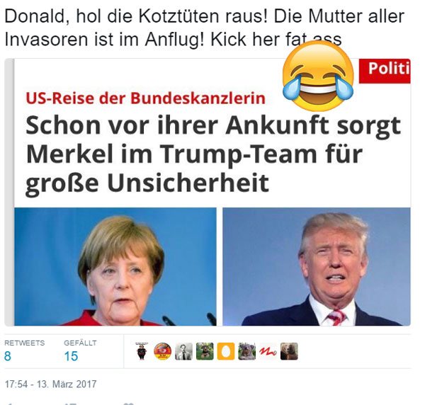 FakeNews: Trump hat Angst vor Merkel #MerkelUSA #Trump #FeigeMerkel #Date:03.2017#