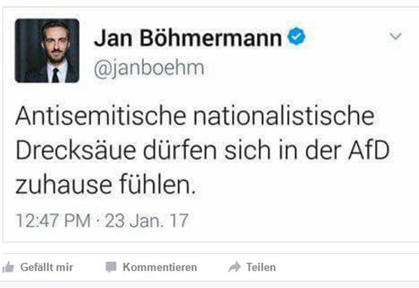 Linkslibertärer Autorassist Böhmermann  Liebe Leser, jetzt überlegen Sie mal kurz, von welchem Geld wohl Böhmermann bezahlt wird.  Richtig geraten, von Ihren GEZ-Gebühren.  #böhmermann  #autorassist  #linkslibertär  #antidemokrat  #minderbemittelt  #arschloch  #autorassismus #gez #ör  #ÖffentlicherRundfunk #Date:04.2017#
