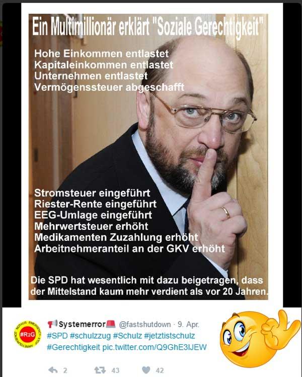 Bild zum Thema Millionär Schulz, die SPD und der kleine Bürger  #schulz  #spd  #soziale_gerechtigkeit