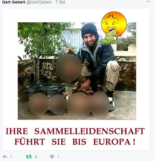 Bild zum Thema Bizarres aus dem Asylchaos Ihre Sammelleidenschaft führt sie bis Europa. Tja, wer will nicht solche Nachbarn haben? :v #asylchaos #halsabschneider #is #kampferfahrung #schlächter