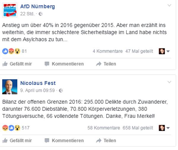 Wir wollen nur die Wahrheit hören, Frau Merkel Wir wollen nur die Wahrheit hören, sonst nichts, Frau Merkel. Bewerten können wir das selbst. :v https://www.welt.de/…/Straftaten-von-Zuwanderern-BKA-Lagebe… #Merkel_Muss_Weg? #Merkel_Bunt_Schland? ? #AfD_wählen ? #Unbequem_Echt_Mutig_AfD™ #Date:04.2017#