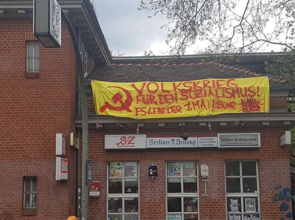 Bild zum Thema Volkskrieg für den Sozialismus  Die Linken rüsten sich für die Folklore zum 1.Mai.  Ähnlich drastische Ansagen durch konservative Kräfte würden sofort zu einem Großeinsatz von Verfassungsschutz und Polizei führen. :v    #b0105  #linksautonome  #linksterrorismus #autorassisten_selbsthasser  #demokratiefeinde  #antifa  #antifa_unterstützer  #spd  #grüne  #linke  #verdi  #gewerkschaften  #kirchen  #anti_antifa  #rotlackierte_faschos  #anarchisten  #bunt_intolerant_weltbesoffen_antidemokratisch #linke_zecken  #zecken_kärcher  #linke_gewalt  #politische_gewalt_links   #militanter_arm  #militanter_arm_antifa  #militanter_arm_dgb  #antifa_drecksarbeit  #scheindemokratie  #bananenrepublik    #gewalt_gegen_afd