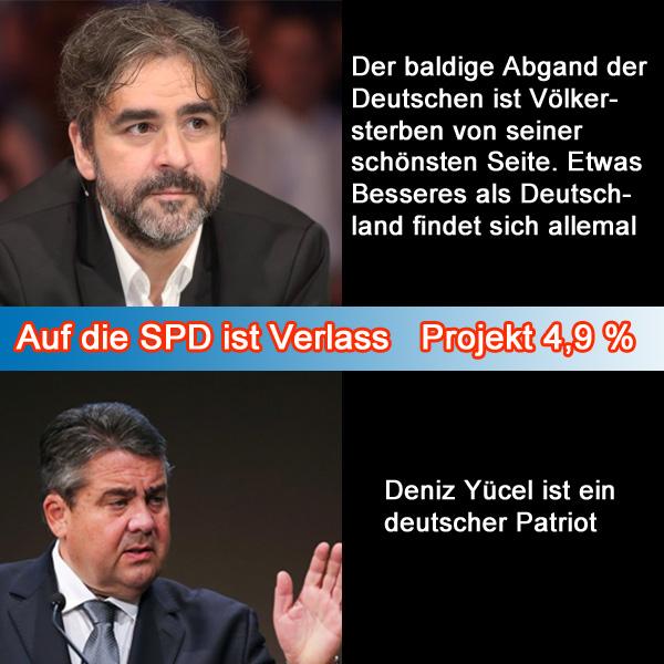 Bild zum Thema  Auf die SPD ist Verlass  ... wenn es darum geht, an dem Ast zu sägen, auf dem man sitzt.  Autorassismus gehört bei den Genossen der Bosse zum guten Ton.  Das Wort 'Patriot' aus dem Mund eines SPD-Politikers ... - kann nicht mehr, biege mich vor Lachen.  Viel Erfolg beim Projekt 4,9 % braucht man der SPD nicht zu wünschen -  der reinste Selbstläufer. :v  #spd  #gabriel  #deniz_yücel  #deutsches_völkersterben  #projekt_vierkomma_neun_prozent #patriot #genossen_der_bosse  #sozi_proleten