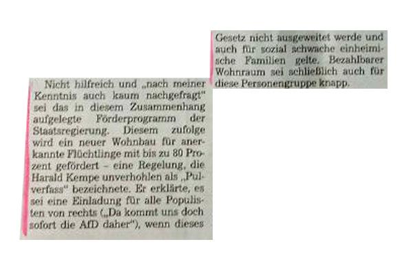 Bild zum Thema LK NEA: AfD als Feigenblatt für Kritik an Diskriminierung der deutschen Bevölkerung Auf der Bürgermeister-Dienstversammlung wurde vom Emskirchener Bürgermeister Harald Kempe (ödp) richtigerweise das Wohnraum-Förderprogramm der Staatsregierung kritisiert, das für anerkannte Flüchtlinge 80-prozentige Zuschüsse vorsieht, während sozial schwache deutsche Mitbürger vollends außen vor bleiben. Leider muss sich Kempe der AfD als Feigenblatt bedienen, weil er, seine Partei und CSU, FB, SPD und FW zu FEIGE sind, um diese Diskriminierung der indigenen Bevölkerung in eigenem Namen zu vertreten. Egal. Endlich, endlich kommen solche Sachen auf den Tisch. Und erzähle mir keiner, dass dies - egal was man vom Gesamtprogramm der AfD hält - jemals ohne diese möglich gewesen wäre. :v #lk_nea_bw #nea #bw #bürgermeister #wohraumförderung_migranten #csu #ödp #fw #fb #spd #diskriminierung #verrat #btw17 #Merkel_Muss_Weg? #abmerkeln? #Asyl_Lobby #One_World_Scheinheilige #Scheindemokratie?? #Asyl_Chaos #Abschiebe_Desaster #Leitkultur? #Multikulti? #linksschwarzgrüne_realitätsverweigerer #linkslibertäre_deutschhasser #selbsthass #autorassismus #Merkel_Bunt_Schland? #Asyl_Wahnsinn? #Systemlinge? #last_night_in_sweden ?#Alternative_für_Deutschland?#AfD_wählen? #Unbequem_Echt_Mutig_AfD™? #Mut_zur_Wahrheit_AfD™? ? Neudeutsche Hoffnungsträger: ? Fit4Return: https://goo.gl/ZKPxvM ?? AfD-Bundestags-Wahlprogramm: https://goo.gl/lT4U3x ?? Zeitungsausschnitt: FLZ, 22.6.17, 'Ein Pulverfass'