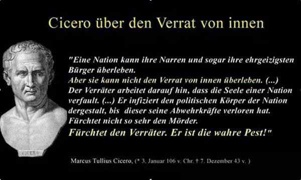 Cicero über den Verrat von innen #Date:01.2016#