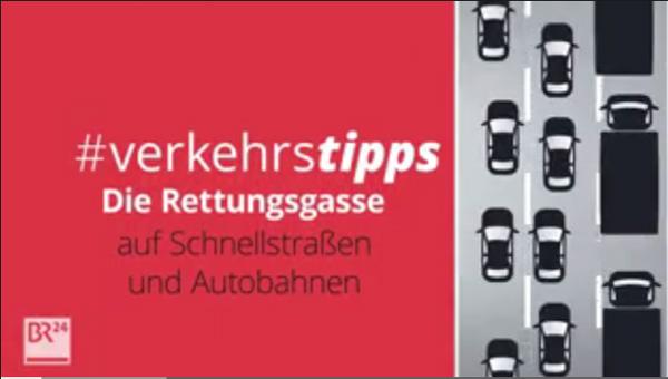 Bild zum Thema Die Rettungsgasse auf Schnellstraßen und Autobahnen sollte jeder kennen. http://br.de/s/2vLAxuc