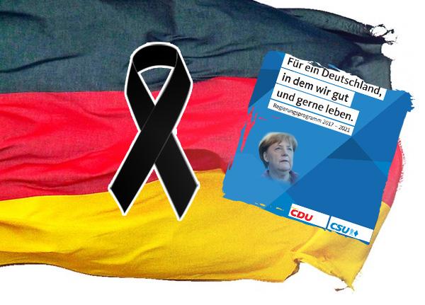 Bild zum Thema CDU-Bundestagswahlprogramm schwarz auf weiß: Deutschland soll sich drastisch entdeutschen - Merkel weiter auf Weltrettungskurs  Zugegeben, ein bisschen nachdenken muss man schon, wenn man die Aussagen im Wahlprogramm der CDU richtig verstehen will:  Auf Seite 63 steht dort: [1] +++ Wir wollen, dass die Zahl der Flüchtlinge, die zu uns kommen, dauerhaft niedrig bleibt. Das macht es möglich, dass wir unseren humanitären Verpflichtungen durch Resettlement und Relocation nachkommen. +++  'Wir wollen, dass die Zahl der Flüchtlinge, die zu uns kommen, dauerhaft niedrig bleibt.'  Die Merkel-CDU will also, dass die Zahl der Flüchtlinge dauerhaft niedrig bleibt. Achtung, erste Falle: die Zahl derer, die aufgrund des Genfer Flüchtlingsabkommens bei uns subsidiären Aufenthalt erhalten, soll niedrig bleiben. Es geht also nur um Migrationsbewegungen aus akuten Krisen in der Welt. Es geht also nur um die UNGEPLANTE Aufnahme von Migranten, die niedrig gehalten werden soll.  'Das macht es möglich, dass wir unseren humanitären Verpflichtungen durch Resettlement und Relocation nachkommen.'  Zweite Falle: Resettlement ist nicht einfach ein englischer Begriff. Resettlement ist ein Programm der Vereinten Nationen (UNHCR) zur dauerhaften Umsiedlung und Neuansiedlung von Personen aus überlasteten Nachbarstaaten von Krisenregionen in sichere Länder. Staaten, die sich dazu bereit erklärt haben, erhalten jährlich von der UNHCR Kontingente an Migranten, die sie auf Dauer in ihrer Gesellschaft ansiedeln und in die Volksgemeinschaft eingliedern müssen. Dies alles unabhängig von Asylantentum und Flüchtlingen. [2]  Wir sind nach dem Willen von Merkel-CDU dabei.  Dritte Falle: Relocation ist ebenfalls nicht einfach ein englischer Begriff für ein deutsches Wort. Relocation ist ebenso ein UNHCR-Programm. Ziel dieser Initiative ist es, Flüchtlingsmigranten aus den ärmeren Ländern im Süden Europas in die reicheren nördlichen EU-Staaten umzuziehen. Auch dies zusätzlich zu Asylantentum, F