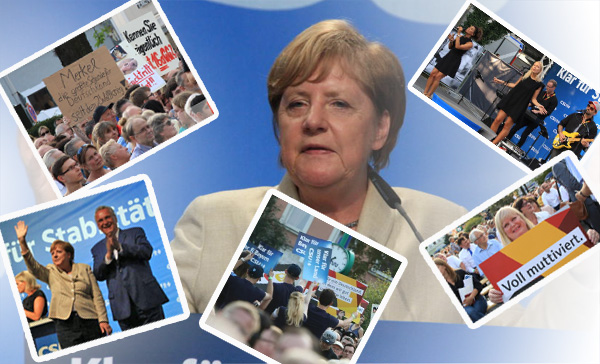 Bild zum Thema Merkel in Erlangen - geladene Gäste, Jubelperser, Live-Musik, Gelaber  Am Mittwoch suchte Merkel auf ihrer Wahlkampftour Erlangen.  Zutritt zum engeren Veranstaltungsraum hatten nur geladene Gäste.  Begeisterung für die Kanzlerdarstellerin beim einfachen Volk im Außenbereich versuchte man durch einpeitschende Jubelperser zu erreichen.  CSU-Schleimer Joachim Herrmann, der gerne nächster Bundesinnenminister unter Merkel werden würde, war natürlich auch dabei um. sich in der in Grenzen haltenden Euphorie von Merkel zu sonnen.  Merkel selbst mit den üblichen völlig tranigen Aussagen und komplett unberührt von den Auswirkungen ihrer für Deutschland toxischen Politik. Da musst du schon eiskalt sein, um den Bürgern knallhart ins Gesicht zu versprechen, dass du deine anti-deutsche Politik ohne Abstriche weiter durchziehen willst.  Aber Dumme gibt es bekanntlich genug, die den Mist glauben. ;v  Siehe hierzu auch:  http://www.infranken.de/regional/erlangenhoechstadt/merkel-in-erlangen-heiss-aber-nicht-hitzig;art215,2856246?q=nl  #merkel  #erlangen  #wahlkampf  #losertreff  #cdu #csu #herrmann  #btw17