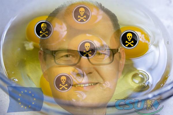 Europäischer Verbraucherschutz versagt bei Fipronil - und Schmidt CSU kräftig dabei  Ein Zufallsfund in einem Labor brachte den Lebensmittelskandal um Fipronil-belastete Eier ans Tageslicht  Es erhärtet sich der Eindruck, dass holländische und belgische Behörden aus ermittlungstaktischen Gründen den Verzehr von Fipronil-belasteten Eiern in Kauf genommen haben und diese Entscheidung bewusst vor den Verbraucherschutz gestellt wurde.  Die Alternative für Deutschland fordert auf Bundes- und Landesebene, über eine wissenschaftliche Gefährdungslage zu informieren. Die Erkenntnisse des Bundesinstituts für Risikobewertung (BfR) gehören ebenso in eine öffentliche und sachliche Berichterstattung, wie die Bekanntgabe der Chargennummern (Stempelaufdruck auf den Eiern). Die mündigen Verbraucher haben ein Recht auf Basis der Faktenebene, ihre gekauften Eier zu kontrollieren und auf ihre Verzehrtauglichkeit prüfen zu können.  Das Versagen des europäischen Verbraucherschutzes geht zu Lasten der Verbraucher und der Legehennenhalter sowie der eierverarbeitenden Wirtschaftszweige.  Weder das Bundesamt für Verbraucherschutz und Lebensmittelsicherheit noch das Bayerische Staatsministerium für Umwelt und Verbraucherschutz verfügten über Erkenntnisse von Fipronil-Rückständen in Eiern, da sie – zum Schaden der Verbraucher – nicht auf Fipronil untersucht wurden.  Aus diesen Gründen fordert die Alternative für Deutschland den Rücktritt des Bundesministers für Landwirtschaft und Ernährung, Herrn Christian Schmidt (CSU) und der Staatsministerin für Umwelt und Verbraucherschutz, Frau Ulrike Scharf (CSU).  ___________________________  Bei Rückfragen können Sie sich gerne an uns wenden.  Mit besten Grüßen  LFA 7 Umwelt und Landwirtschaft, Tier- und Naturschutz, Verbraucherschutz  Alternative für Deutschland Landesverband Bayern  Fasanenstraße 68 82008 Unterhaching www.afdbayern.de  Mail: geschaeftsstelle@afdbayern.de  #eier  #fibronil  #eu  #verbraucherschutz  #schmidt  #bundesagrarminiser  #csu 