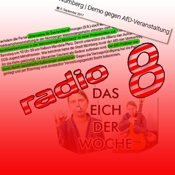 Bild zum Thema Ansbach: Radio 8 mausert sich zum RotGrünfunk-Sender  Der Lokalsender lässt immer öfter erkennen, dass man dort Sympathien für linkes Gedankengut hat.  Der Kabarettist Stefan Eichner darf dort verkünden, dass die deutsche Gesellschaft degeneriert ist und dringend einen Schuss vor den Bug braucht.[1]  Desgleichen wird dort für Demonstrationen gegen die AfD geworben. [2]  Außerdem hört man dort des öfteren Wahlwerbung für den Bundestags-Direktkandidaten der Linken, Harald Weinberg (das ist der, der dem islamischen Attentäter von Ansbach einen geduldeten Aufenthalt verschaffte). Jedenfalls ist dem Verfasser an drei Tagen hintereinander nur Wahlwerbung für Weinberg aufgefallen.  Die linke Meinungsmache wird meist recht subtil übermittelt.  Vermutlich bestehen über die Betreibergesellschaft Verbindungen zur Fränkischen Landeszeitung, die als Linksblatt locker den Nürnberger Tageszeitungen das Wasser reichen kann.  [1] http://bit.ly/2xcJq8b  [2] https://www.radio8.de/nuernberg-demo-gegen-afd-veranstaltung-6307/  #ansbach  #mitteflranken  #radio8  #rotgrünfunk  #btw17  #afd  #diskriminierung