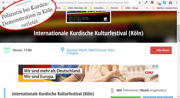 Da schau her: der CDU ist jede Stimme recht für Macht und Mandate  Nicht zimperlich sind die Schwarzen, wenn sie im Trüben nach jeder Stimme zur Bundestagswahl fischen.  Aber so kennen wir sie ja. Entspannt und vom Bürger entkoppelt, sobald sie in Amt und Würden sind. :v  Siehe hierzu auch:  http://www.general-anzeiger-bonn.de/news/politik/nrw/Polizistin-bei-Kurden-Demonstration-in-K%C3%B6ln-verletzt-article3655024.html  #btw17  #csu  #cdu  #wahlwerbung  #wahlkampf  #kurdendemo #Date:09.2017#