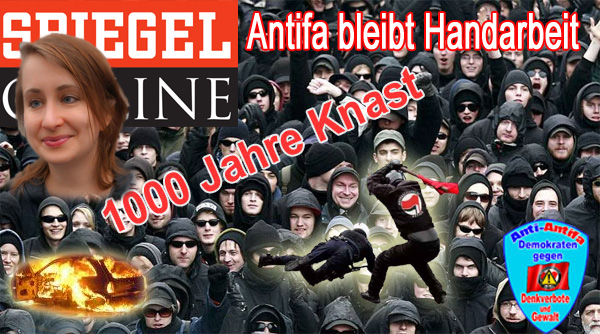 """SPIEGEL-ONLINE: Autorin fordert Antifa-Handarbeit gegen AfD  Die Autorin Margarete Stokowski fordert in SPIEGEL-ONLINE entschlossene Antifa-Arbeit gegen die AfD und einen """"angemessenen Betreuungsschlüssel"""" für die Unterstützer der AfD.  """"Antifa bleibt Handarbeit"""" erklärt sie. Das ist nichts anderes als ein Appell an die Gewalttätigkeit und Gewaltbereitschaft der linken Anarchisten.  Zahlreiche Anschläge und Angriffe auf AfD-Funktionäre in der Vergangenheit zeigen die Gefährlichkeit der kriminellen Vereinigung Antifa, die noch immer nicht verboten ist. Grund hierfür ist mit Sicherheit die klammheimliche Freude der Altparteien über den Druck auf die AfD.  Die Meinungsunterdrückung durch die militante Linke hat der AfD unzählige Stimmen bei der Bundestagswahl gekostet, weil eine freie und umfängliche Information der Bevölkerung nicht möglich war.  Siehe hierzu auch: http://info-direkt.eu/2017/09/27/handarbeit-gefordert-spiegel-autorin-kuendigt-afd-antifa-offensive-an/  Stokowski auf SPIEGEL ONLINE: http://www.spiegel.de/kultur/gesellschaft/afd-im-bundestag-antifaschismus-muss-jetzt-alltag-werden-kolumne-a-1169921.html  #antifa  #spiegel_online  #stokowski  #bento  #gewaltaufruf  #kriminelle_vereinigung #Date:09.2017#"""