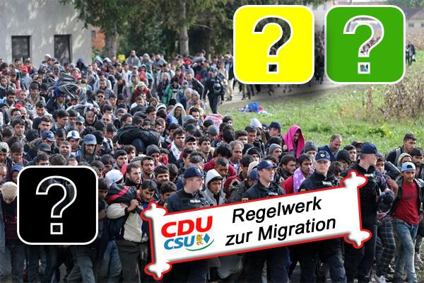 """Zur Erinnerung bei den Jamaika-Verhandlungen  Hier noch einmal das von CDU und CSU ausgearbeitete """"Regelwerk zu Migration"""", mit dem diese in die Jamaika-Verhandlungen mit Grünen und FDP gehen.  +++ Regelwerk zur Migration  Unsere Position ergibt sich aus dem Regierungsprogramm sowie aus den gemeinsamen Beschlüssen von CDU und CSU. Wir bekennen uns zum Recht auf Asyl im Grundgesetz sowie zur Genfer Flüchtlingskonvention und zu unseren aus dem Recht der EU resultierenden Verpflichtungen zur Bearbeitung jedes Asylantrags.  Wir setzen unsere Anstrengungen fort, die Zahl der nach Deutschland und Europa flüchtenden Menschen nachhaltig und auf Dauer zu reduzieren, damit sich eine Situation wie die des Jahres 2015 nicht wiederholen wird und kann: Durch Bekämpfung von Fluchtursachen, durch entschlossenes Vorgehen gegen Schlepper und Schleuser und durch Zusammenarbeit mit UNHCR, IOM und Herkunfts- und Transitstaaten sowie durch legale Aufnahmeinstrumente. Das garantieren wir.  Wir wollen erreichen, dass die Gesamtzahl der Aufnahmen aus humanitären Gründen (Flüchtlinge und Asylbewerber, subsidiär Geschützte, Familiennachzug, Relocation und Resettlement, abzüglich Rückführungen und freiwillige Ausreisen künftiger Flüchtlinge) die Zahl von 200.000 Menschen im Jahr nicht übersteigt.  Dazu legen wir konkrete Maßnahmen fest, die die Einhaltung dieses Rahmens sichern:  Fluchtursachenbekämpfung Zusammenarbeit mit Herkunfts- und Transitstaaten nach dem Vorbild des EU-Türkei-Abkommens Schutz der EU-Außengrenzen, EU-weite gemeinsame Durchführung von Asylverfahren an den Außengrenzen sowie gemeinsame Rückführungen von dort, Reform des GEAS und des Dublin-Systems. In Deutschland werden Asylverfahren für alle neu Ankommenden in Entscheidungs- und Rückführungszentren nach dem Vorbild von Manching, Bamberg und Heidelberg gebündelt. Die Asylbewerber verbleiben dort bis zur schnellstmöglichen Entscheidung ihres Antrages. Die erforderlichen ausländerrechtlichen Entscheidungen werden dort getrof"""