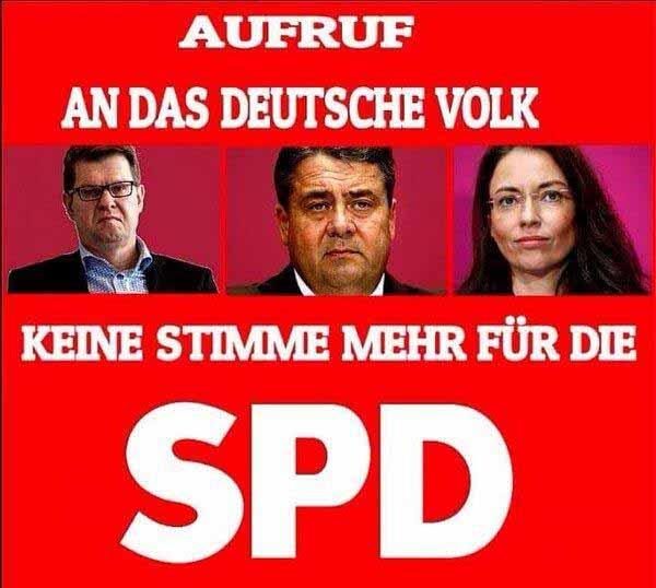 Aufruf an das deutsche Volk. Keine Stimme mehr für die SPD #Date:12.2015#