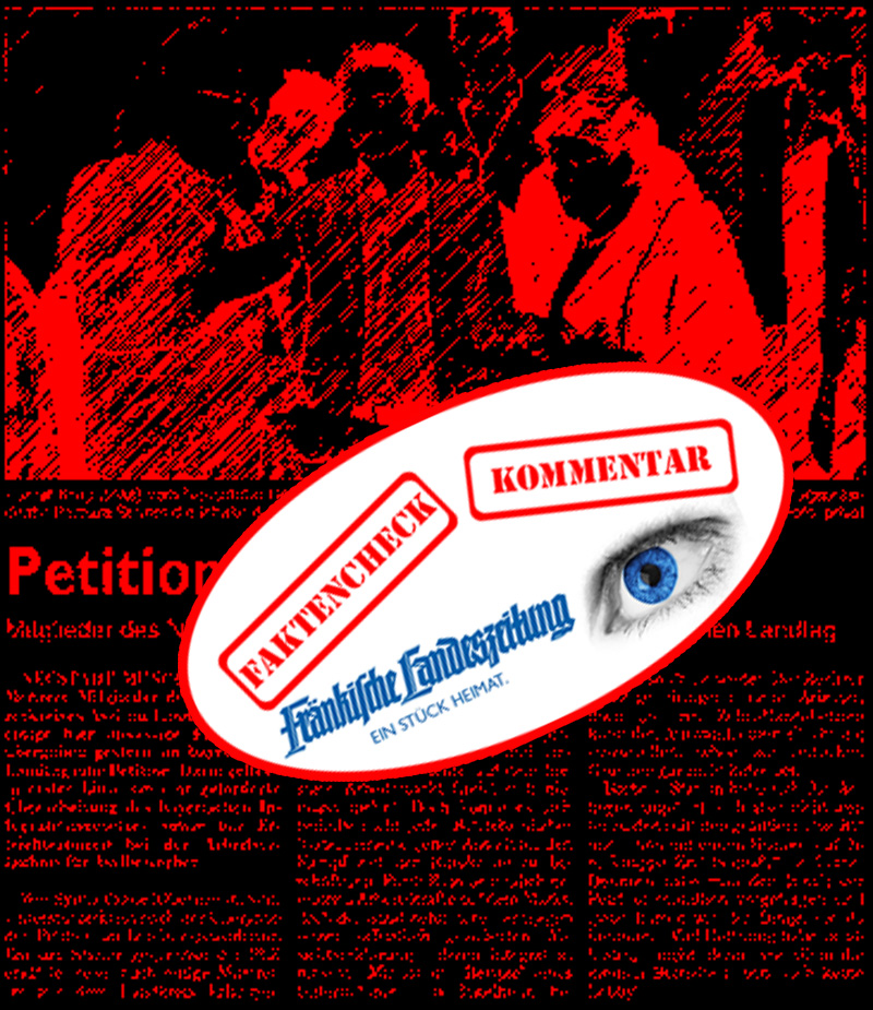 """Endlich: Petition im Landtag übergeben  FLZ v. 20.10.17 Autor: NN Artikel """"Petition übergeben""""  Wir konnten es schon gar nicht mehr erwarten. Der Neustädter Unterstützerkreis Asyl hat sich in die Landeshauptstadt begeben, um eine wichtige Petition zu überreichen.  Also wirklich, auf der Treppe hätte die Landtagspräsidentin Barbara Stamm die tapferen Kämpfer gegen das Bayerische Integrationsgesetz nicht abfertigen müssen, wo sie doch sonst so flüchtlingsaffin eingestellt ist. Aber dafür hat sich schnell noch ein Landtagsabgeordneter der Grünen dazu gestellt, vermutlich alarmiert von der Neustädter Stadträtin Gaubitz.  So weit, so - egal - gut. Wäre da nicht ganz vorne dran ein Herr, der dem ach so humanitären Ansinnen der Flüchtlingsunterstützer irgendwie einen wirtschaftlichen Touch verschafft. Dieser Herr ist Rainer Krug, der sich seit vielen Jahren durch besondere Nähe zur Arbeitsagentur und den Jobcentern auszeichnet und sein Geld damit verdient, Leute in irgendwelche - wie auch immer die Arbeitslosenstatistik entlastende - Jobs zu bringen. Krug ist nach Hörensagen ein absoluter Fan von Leiharbeit und mit der Zeitarbeit auch geschäftlich verbandelt.   Also gut, dann einigen wir uns darauf, dass die - Herrn Krug die Geschäfte erleichternde -  Petition halt auch ein bisschen nach Asylkrisengewinnler und Asylindustrie schmeckt. Welche Rolle die anderen Akteure spielen ist eigentlich an dieser Stelle bereits uninteressant. Immer wieder schön, welche Pakte SPD und Grüne zur Erreichung ihrer ideologischen Ziele eingehen.  #LkNeaBW #neustadt  #unterstützerkreis  #asyl  #petition  #landtag  #stamm  #gaubitz  #schnizlein  #grüne  #spd  #integrationsgesetz  #bayern #Date:10.2017#"""