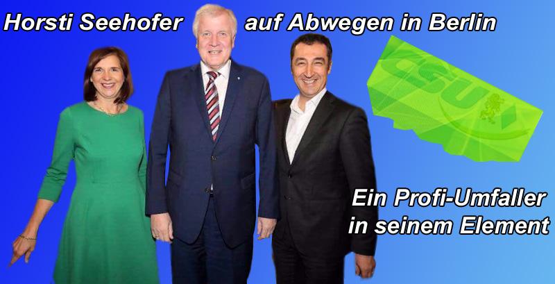 Horst Seehofer auf Abwegen in Berlin. Ein ganz gefährliches Fahrwasser für Profi-Umfaller.   #berlin #bundesregierung #jamaika #sondierung #koalition #csu #seehofer #umfaller #Date:10.2017#