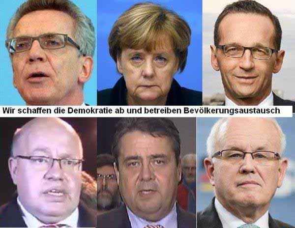 Herausragende Köpfe der deutschen Bundesregierung. Evolutionäre Spitzengruppe und Deutschland-Vernichter #Date:12.2015#