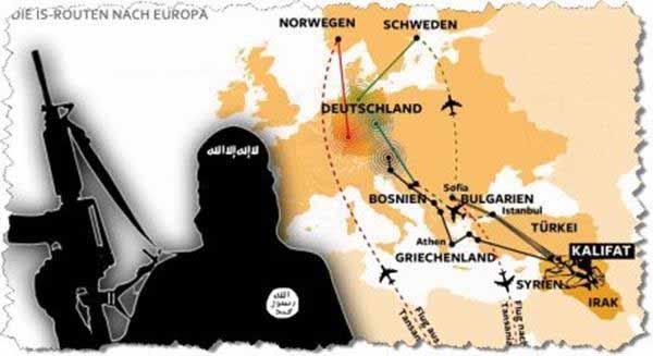 Die IS-Routen nach Deutschland #Date:01.2016#