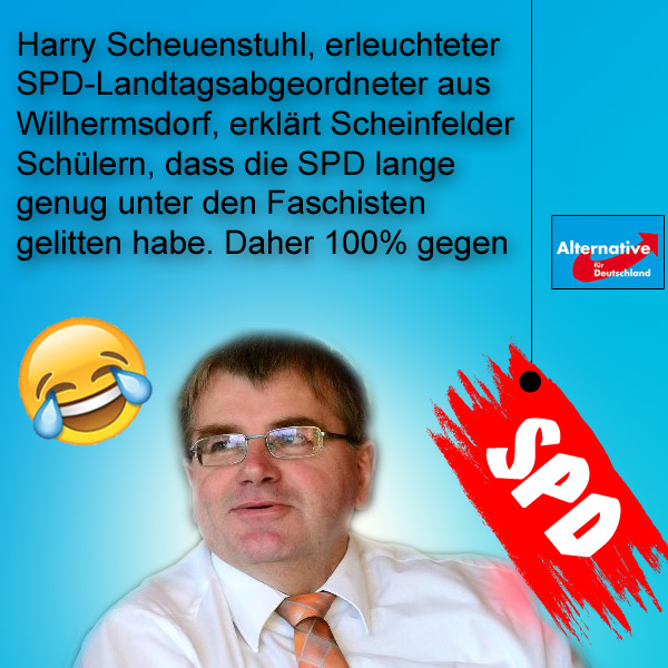 Bild zum Thema >> Scheinfeld: Schwarzenberger Schulen bedanken sich für Fördermittel durch Anti-AfD-Veranstaltung  Am