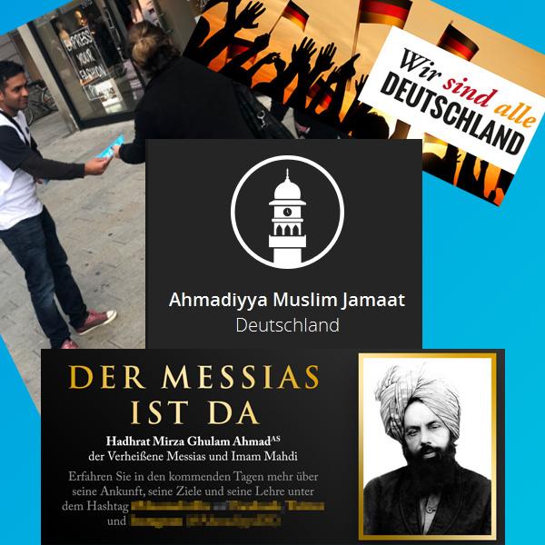 """>> Ansbach Stadt und LK: Islamische Missionierung durch AMJ-Organisation   Die islamische Missionierungs-Organisation Ahmadiyya Muslim Jamaat (AMJ) führt in Stadt und Landkreis Ansbach eine großangelegte Islamisierungs-Kampagne durch.  Der Kernsatz des Missions-Eifers der Moslems ergibt sich aus diesem Satz, der gleichzeitig das Ziel des AMJ beschreibt:  Kommentar zu Sure 30, Vers 57: """"Beim ersten Aufstieg des Islams war der Untergang der christlichen Völker nicht endgültig, aber sein Wiederaufstieg in unserer Zeit wird die vollständige Verdrängung der Lehrsätze des heutigen Christentums herbeiführen."""" – Koran – Der Heilige Qur-ân: Anmerkung 153  Zwar lehnt die AMJ Gewalt ab, ist aber von der unbedingten Alleinherrschaft Allahs und der weltweiten Gültigkeit und Überlegenheit des Koran überzeugt.   Geleitet wird die AMJ von einem Kalifen, dem die Mitglieder einen Treueschwur zu leisten haben.  Die Aktion der Moslem-Propagandisten wird selbstverständlich durch die Mainstream-Medien promotet.  Hessen und Hamburg haben der AMJ gar den Status einer Körperschaft des öffentlichen Rechts verliehen und damit die Islamisierungs-Organisation auf eine Ebene mit den christlichen Kirchen gestellt. Dummland halt.  #ansbach  #stadt  #landkreis  #missionierung  #amj  #islam  #allah  #kalif   #Date:04.2018#"""
