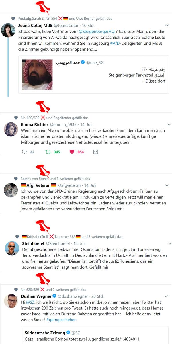 >> Netzfunde: AfD-Bashing durch Steigenberger, Al-Kaida-Leibwächter-Reimport und Israelkritik durch Süddeutsche Zeitung  #netzfunde  #afdbashing  #steigenberger  #OsamaBinLaden  #sz  #israel  #Date:#