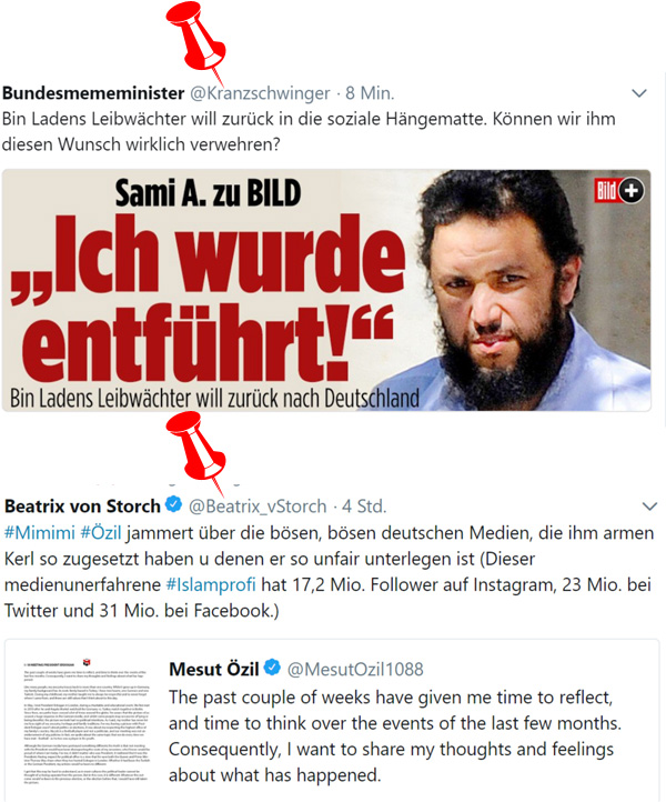 >> Netz-Funde: * Deutschlandverliebte Leibwächter * Özil-Abgang *   #netzfund #sami  #leibwächter  #entführung  #asylsumpf  #özil  #abgang  #rassismus   #Date:#