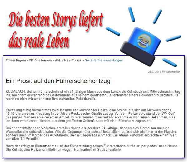 Bild zum Thema >>  Straßenverkehr: Prost, Polizei!  #verkehr  #alkohol  #polizei  #DummWieBrot
