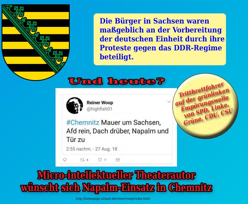 >> Chemnitz  > Bürgerprotest: Grünlinke _Empörungs-Hysterie schlägt Wellen  Die grünlinke Empörungs-Kultur von Altparteien (CSU, CDU, SPD, Grüne, Linke, FDP) und Lügenpresse zeigt, unter welcher Meinungsblase diese Demokratie leidet.  #chemnitz  #altparteien  #sachsen  #lügenpresse  #meinungsblase #sachsen #Date:08.2018#