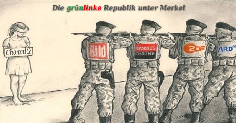 >> Chemnitz:  Die grünlinke Republik unter Merkel _  Wie selten zuvor zeigt sich die grünlinke ????? Meinungsdiktatur in diesem Land am Beispiel Chemnitz.  #chemnitz  #grünlinks  #meinungsdiktat  #merkel  #lügenpresse  #altparteien #Date:08.2018#