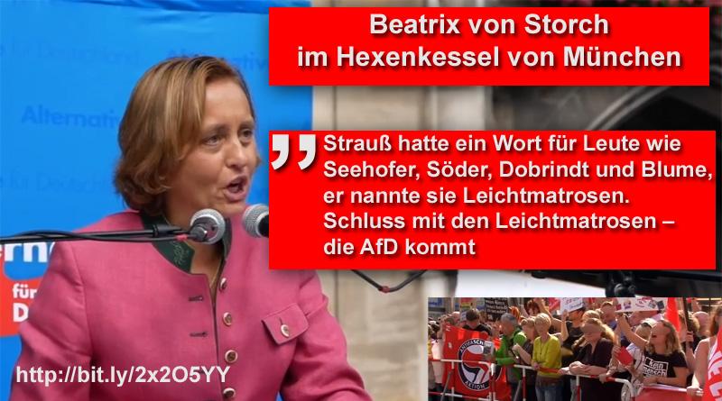 >> Beatrix von Storch im Hexenkessel von München_ #bvs  #afd  #münchen  #csu  #reiter  #hexenkessel #Date:09.2018#
