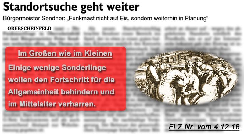 Bild zum Thema LK NEA-BW > Oberscheinfeld: Streit um Funkmast | Sonderbare Zeitgenossen wollen Fortschritt behindern_