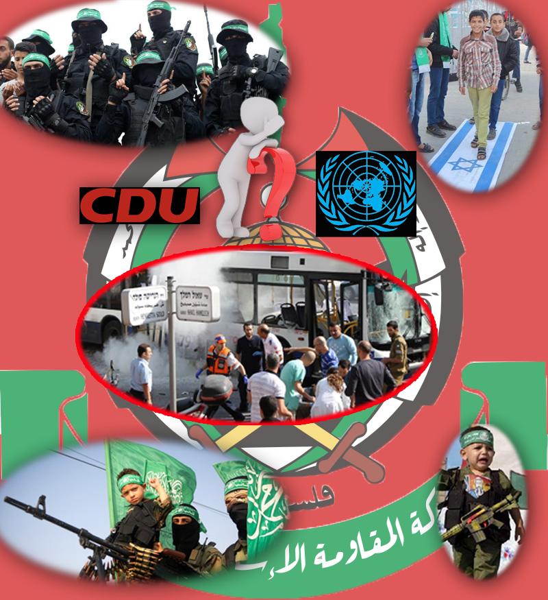 """>> Was haben CDU und UN gemeinsam? Nun, auf jeden Fall ein Herz für die Islamistenterroristen von der Hamas _  Ist eigentlich die #UN (United Nations / Vereinte Nationen / UNO) eine so ehrenwerte Gesellschaft? #MainstreamInformierte aus #ARD und #ZDF werden laut """"JA"""" schreien. Und damit ist schon klar, dass das nicht so ist.  Die versammelten Welt-Herrschaften in der UN-Vollversammlung haben es letzthin tatsächlich geschafft, an einem einzigen Tag neun #israelkritische Resolutionen zu verabschieden. Der Großteil der UN-Vertreter inklusive der deutschen #Qualitätspresse sind nämlich noch immer der Meinung, dass die #Palästinser und die von diesen als Regierung gewählte #Terrororganisation #HAMAS (sunnitisch-islamistisch) grundsätzlich Opfer sind und daher #Generalabsolution erhalten müssen.  So auch bei einer kürzlichen Abstimmung in der UN, bei der die von der HAMAS durchgeführten ununterbrochen Angriffe auf israelische Zivilisten als #Kriegsverbrechen gebrandmarkt werden sollten. Klar, dass die Abstimmung zugunsten der HAMAS ausging.   Der #GazaStreifen wird von der """"Palästinensischen Autonomiebehörde #PA"""" verwaltet. Dieser finanziert sich fast vollständig aus Geldern von UN, #EU und auch aus #Deutschland. Wie seit längerem bekannt ist, werden diese Gelder auch dazu verwendet, um HAMAS-Terroristen und deren Familien zu finanzieren, wenn diese in Haft sitzen oder als """"Märtyrer"""" gegen Israel gestorben sind. Dabei ist der """"#Ehrensold  je höher, desto schwerwiegender und blutiger der Angriff war.  Und nun zur #CDU. Auf ihrem #Bundesparteitag im Dezember 2018 lag auch ein Antrag vor, der forderte, die Finanzspritzen für die PA einzufrieren, solange aus diesen Geldern offen Unterstützung für Terroristen geleistet werde. Und nun raten Sie mal, wie die Sache ausging. LOGO, der Antrag wurde abgelehnt. Nicht nachvollziehbar. Welche Honks, die sich schon in die Hose kacken, wenn ein Köfferchen irgendwo alleine rumsteht.  Aber das passt zu Deutschland. 70 Jahre charakterliche """