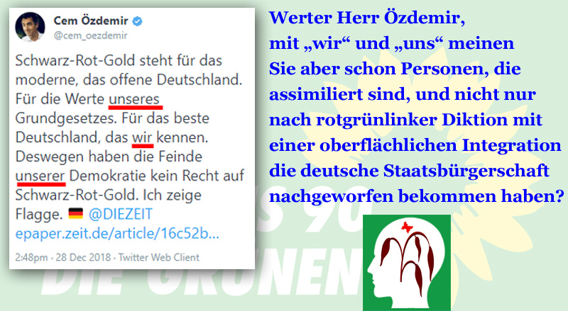 Bild zum Thema #Rotgrünlinke und das #WIR und #UNS_#özdemir #linke #rote #grüne #assimilation #integration