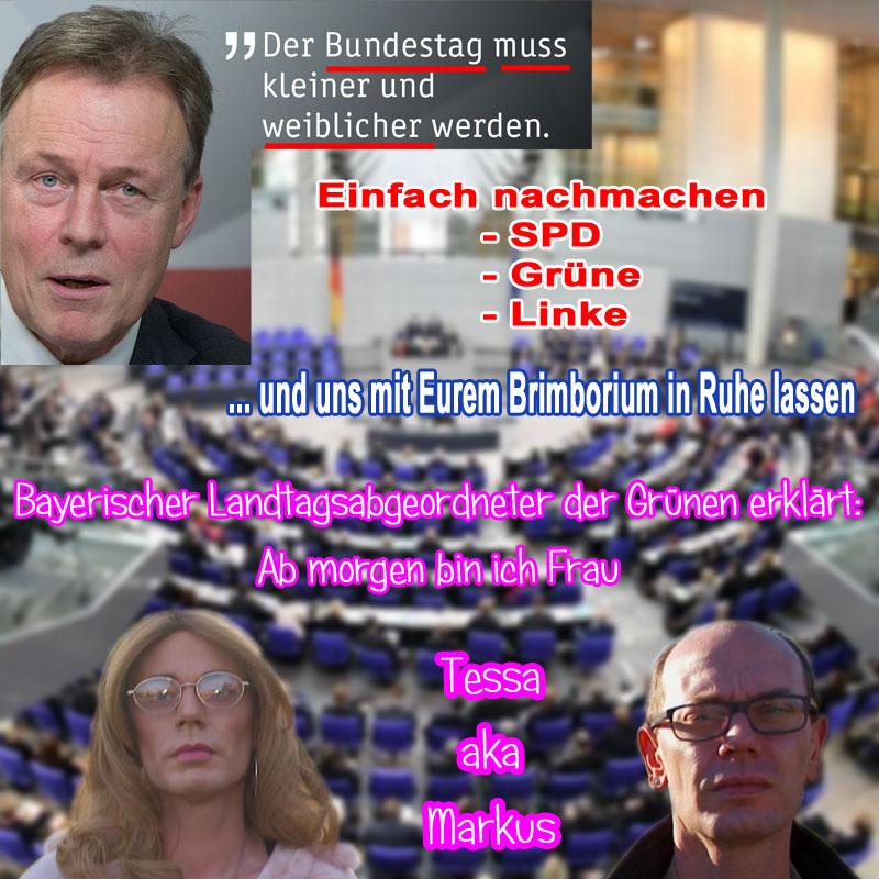Bild zum Thema Der Bundestag muss weiblicher werden _  Zum öffentlichen Pushen dieses für unsere ramponierte Gesellschaft so wichtigen Postulats sieht sich Thomas 'wer war noch einmal Edathy' #Oppermann, NATÜRLICH #SPD, dringend gezwungen.  Dabei wäre alles so einfach .... ????????????????