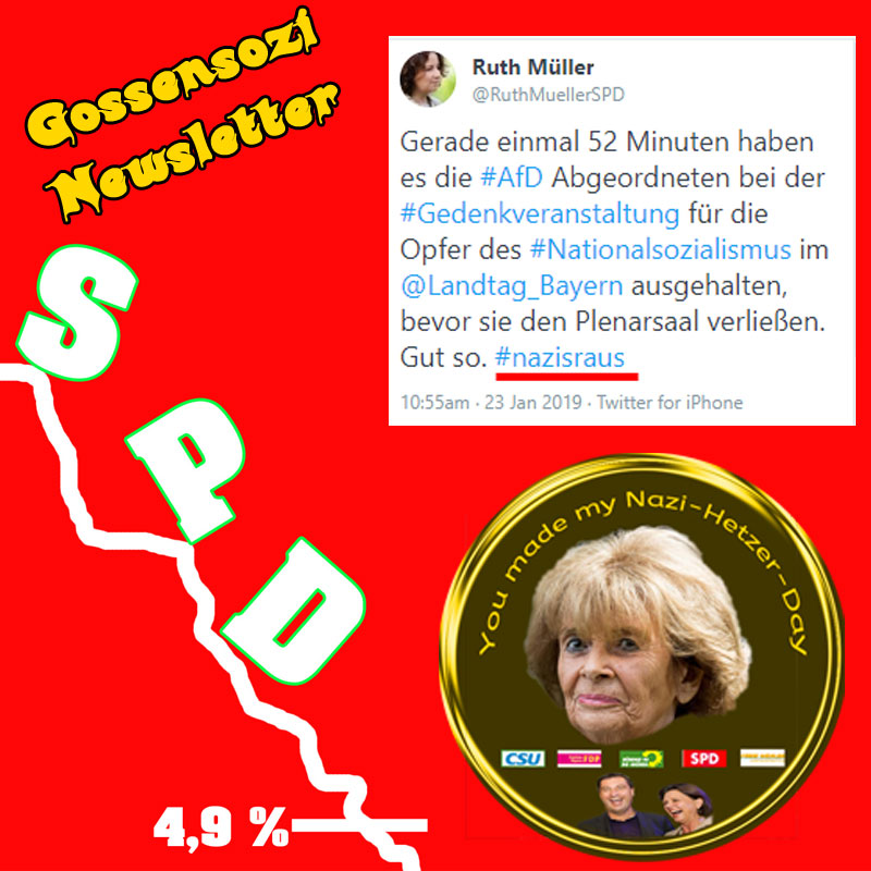 Bild zum Thema Knobloch-Hetze_ #SPD- #Tieffliegerin im #Bayerischen #Landtag beim Versuch eines geistigen Höhenflugs.   CRASH, was sonst bei den #GossenSozis