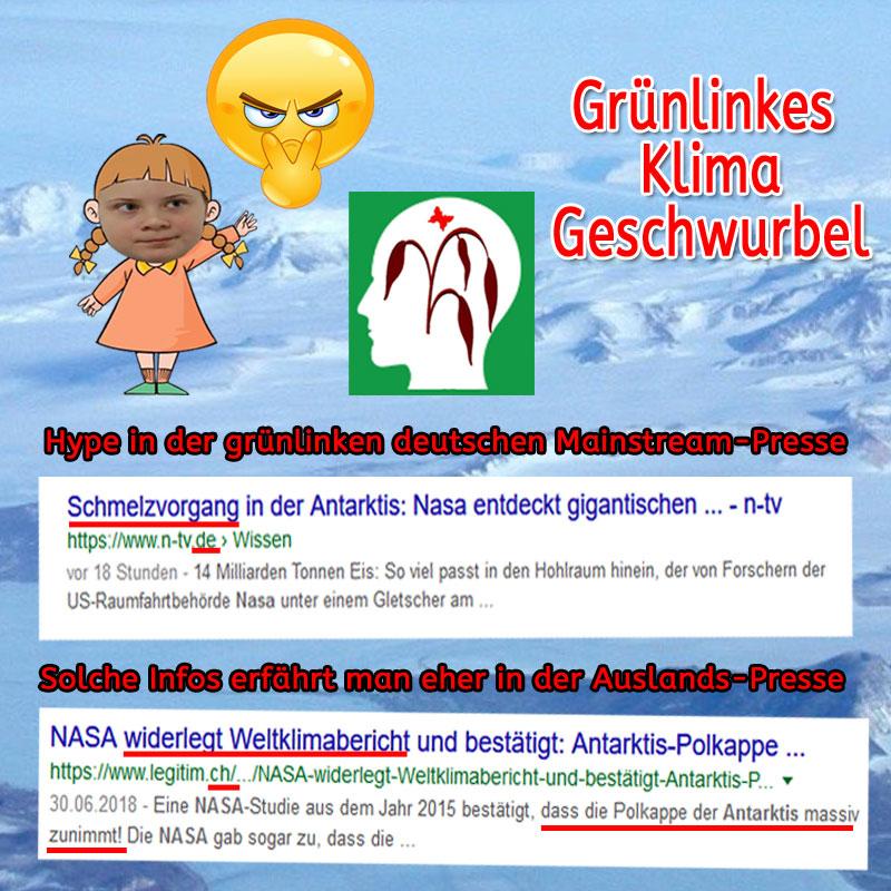 Bild zum Thema #Grünlinkes #Klimawandel-Geschwurbel _  Die deutsche Erbärmlichkeits-Presse immer ganz vorne dabei. Interessantes erfährt man eher aus dem Ausland.