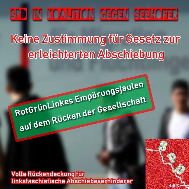 >>  SPD gegen Gesetz zur besseren Durchsetzung von Abschiebungen _   Helle Empörung hat nicht nur bei den #rotgrünlinken #Opposititionsparteien der Gesetzentwurf von #Bundesinnenminister Horst #Seehofer für eine erleichterte Abschiebepraxis ausgelöst. Auch der #Koalitionspartner #SPD spricht sich gegen das Ende des Abschiebe-Kasperltheaters auf dem Rücken der #Gesellschaft aus.  Unglaublich, was uns die Verräterin #Merkel da eingebrockt hat.   Weitere Informationen zu Ihrer Meinungsbildung finden Sie hier: https://www.n-tv.de/politik/SPD-gegen-Plaene-fuer-leichtere-Abschiebung-article20858926.html #Date:02.2019#