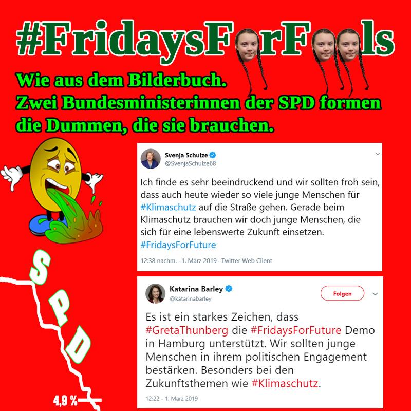 Bild zum Thema Die SPD und der Nachwuchs_ #barley  #schulze  #spd  #greta #FridaysForFools  #fridaysforfuture