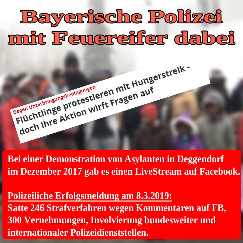Bild zum Thema Bayerische Polizei mit Feuereifer dabei_