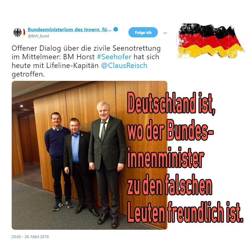 #deutschland  #seehofer  #csu  #reisch  #mittelmeer  #schlepper  #schleuser  #havariebeauftragte_ #Date:04.2019#