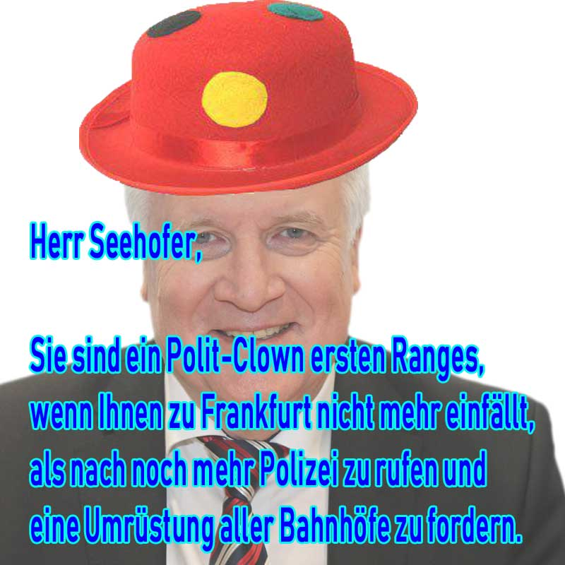 Polit-Clown Seehofer #Date:07.2019#
