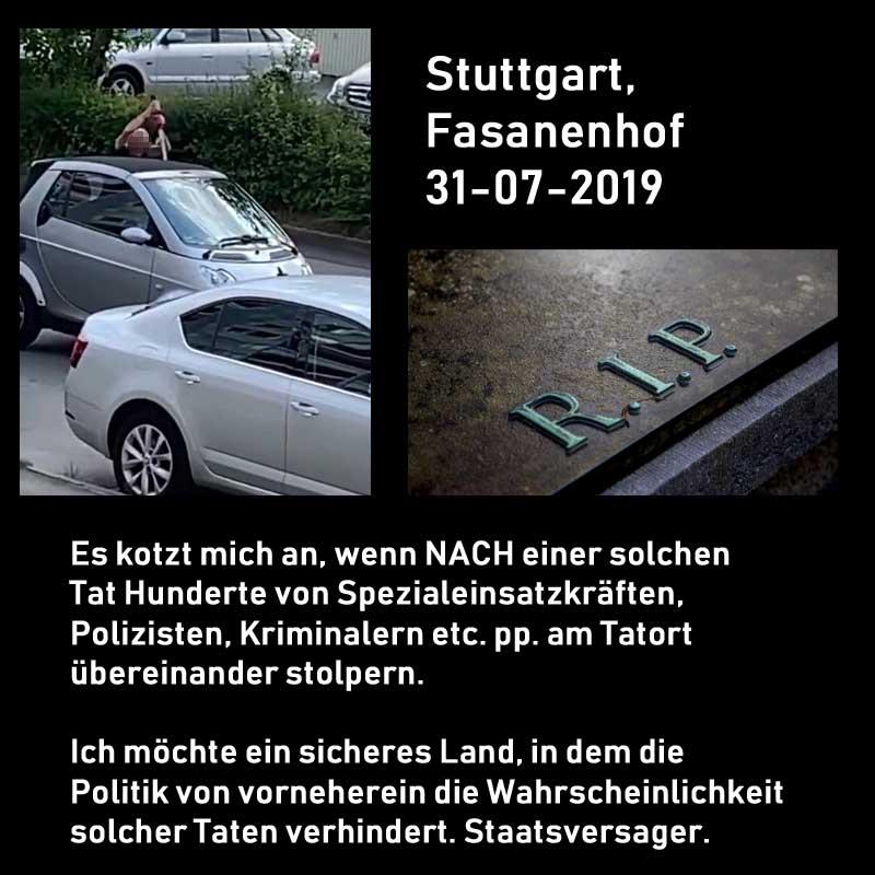 Stuttgart, Fasanenhof. Macheten-Massaker #Date:08.2019#
