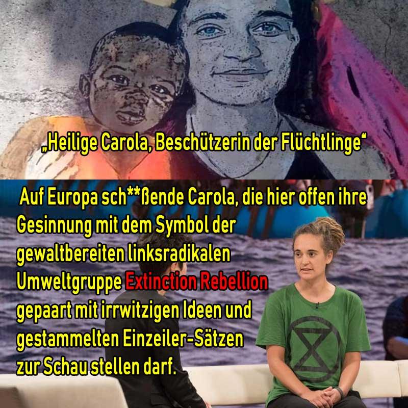 Einfältige Heldin der Linksgrünen: Carola Rackete #Date:09.2019#