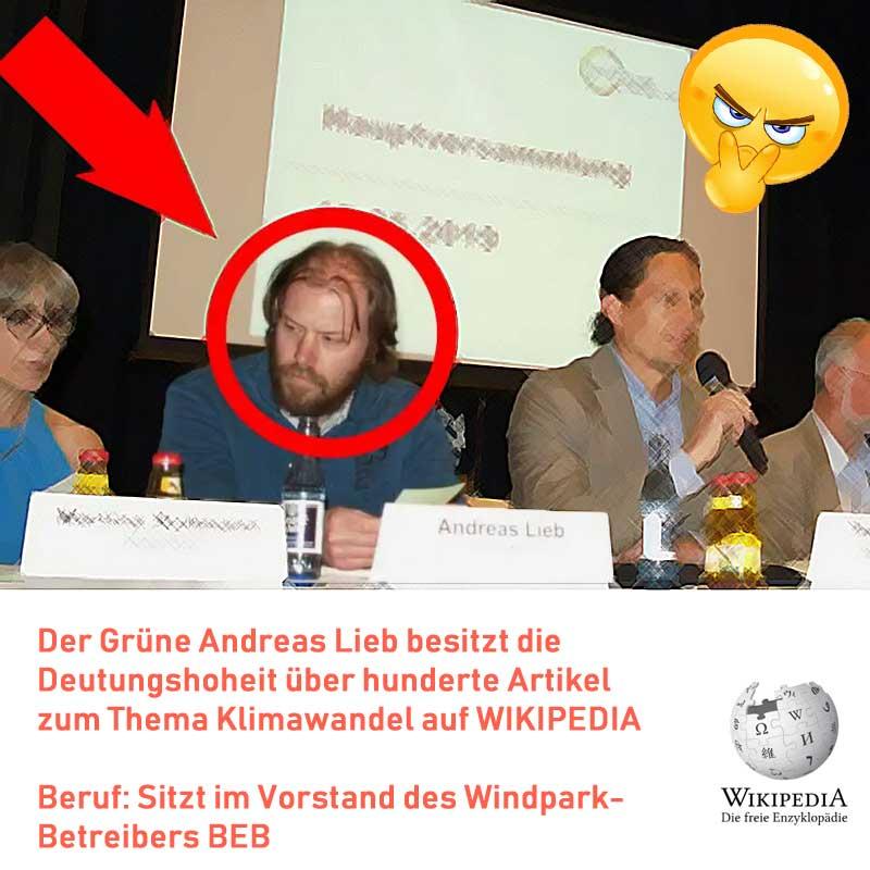 Andreas Lieb kontrolliert die Wikipedia auf klimawandelfreundliche Artikel #Date:09.2019#