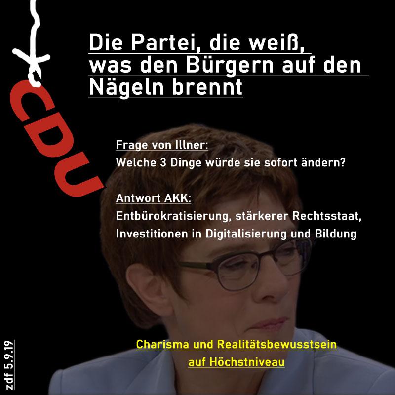 Die CDU weiss, was den Bürgern auf den Nägeln brennt #Date:09.2019#