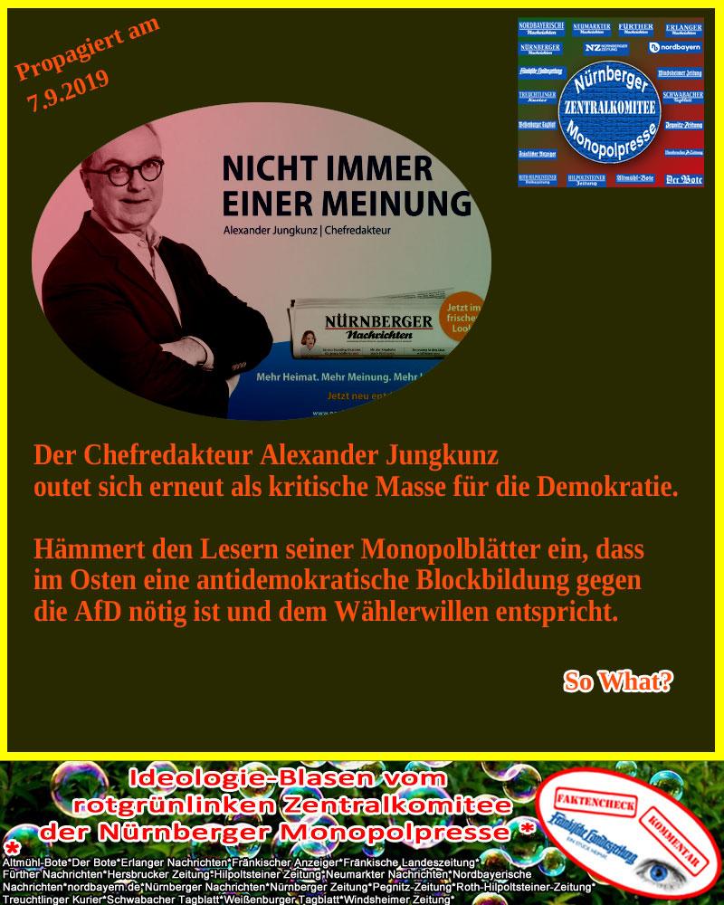 Nünberger Monopolpresse outet sich als kritische Masse für die Demokratie #Date:09.2019#