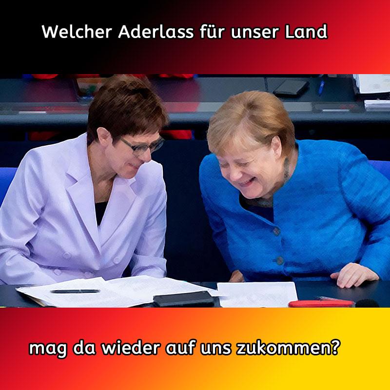 AngelasKleinerKlon #akk und Merkel hecken wieder antideutschen Scheiss aus #Date:09.2019#