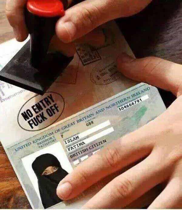 Kein Einreisevisum für Deutschland für Moslems. Draußen bleiben. #Date:01.2016#