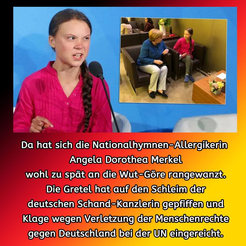 Merkel wanzt sich an Thunberg ran #Date:09.2019#